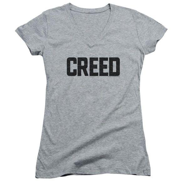 Creed Cracked Logo Junior V Neck Athletic T-Shirt