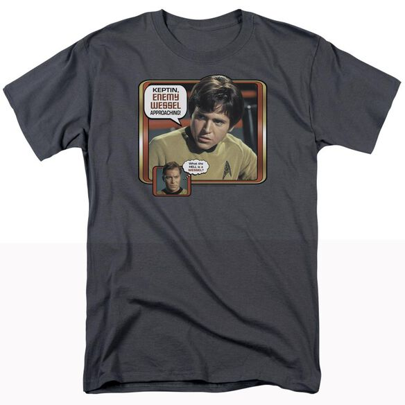 STAR TREK ENEMY WESSEL - S/S ADULT 18/1 - CHARCOAL T-Shirt