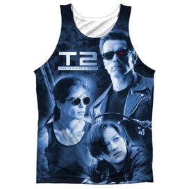 Terminator Ii Protector And Hunter Adult 100% Poly Tank Top