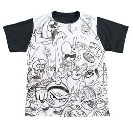 Grim Adventures Of Billy And Mandy Brawl Short Sleeve Youth Front Black Back T-Shirt