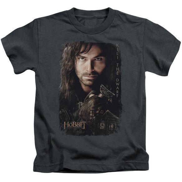 Hobbit Kili Poster Short Sleeve Juvenile Charcoal T-Shirt