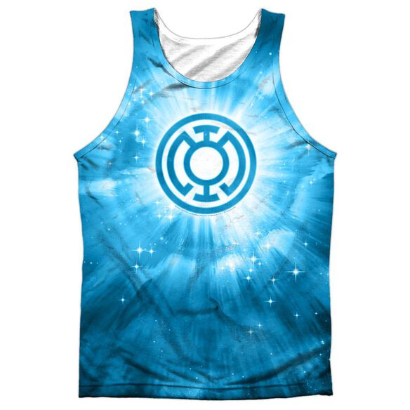 Green Lantern Blue Energy Adult 100% Poly Tank Top