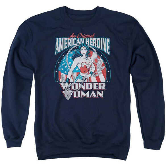 Dc American Heroine Adult Crewneck Sweatshirt