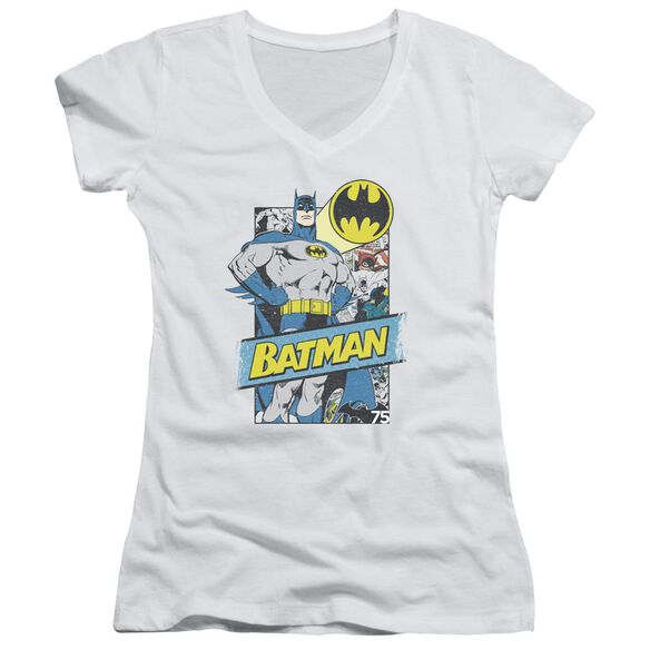 Batman Out Of The Pages Junior V Neck T-Shirt