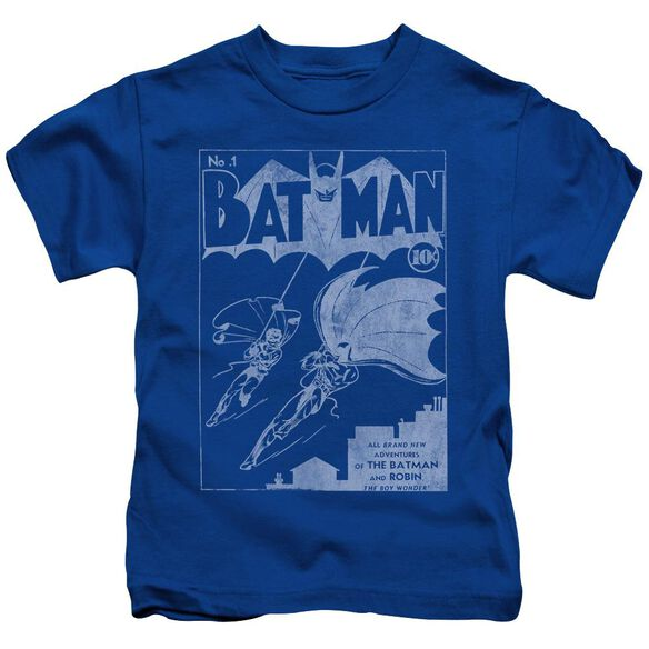 Batman Issue 1 Cover Short Sleeve Juvenile Royal Blue T-Shirt