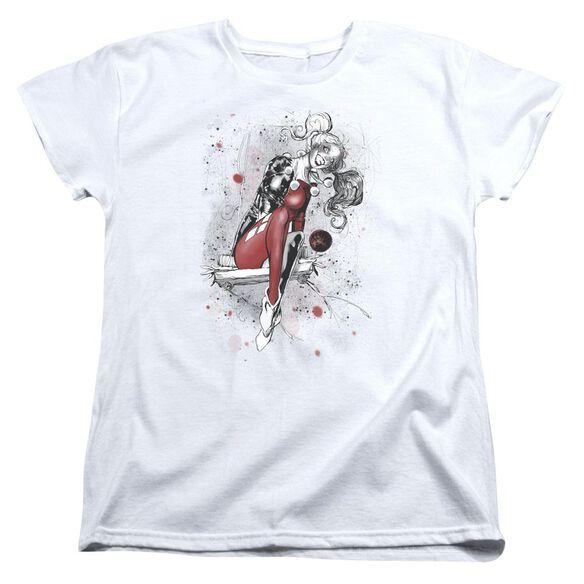 Jla Harley Sketch Short Sleeve Womens Tee T-Shirt