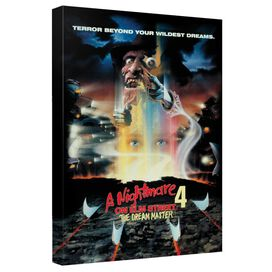 Nightmare On Elm Street Elm Street 4 Poster Canvas Wall Art With Back Board