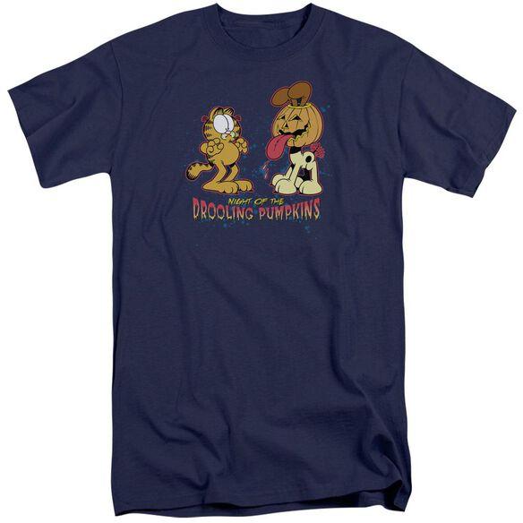 Garfield Drooling Pumpkins Short Sleeve Adult Tall T-Shirt
