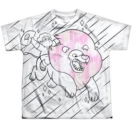 Steven Universe Stev And Lion Short Sleeve Youth Poly Crew T-Shirt