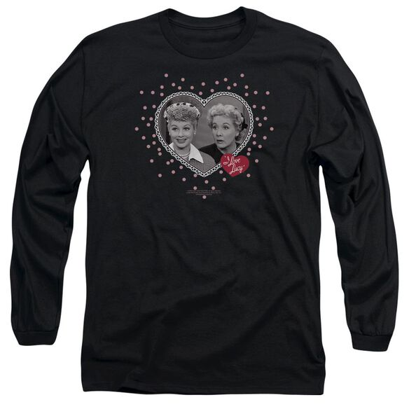 I Love Lucy Hearts And Dots Long Sleeve Adult T-Shirt