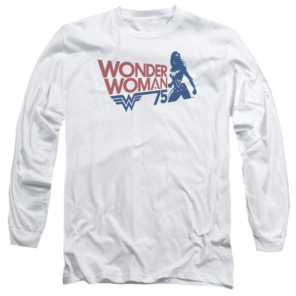 Wonder Woman Ww75 Silhouette Long Sleeve Adult T-Shirt