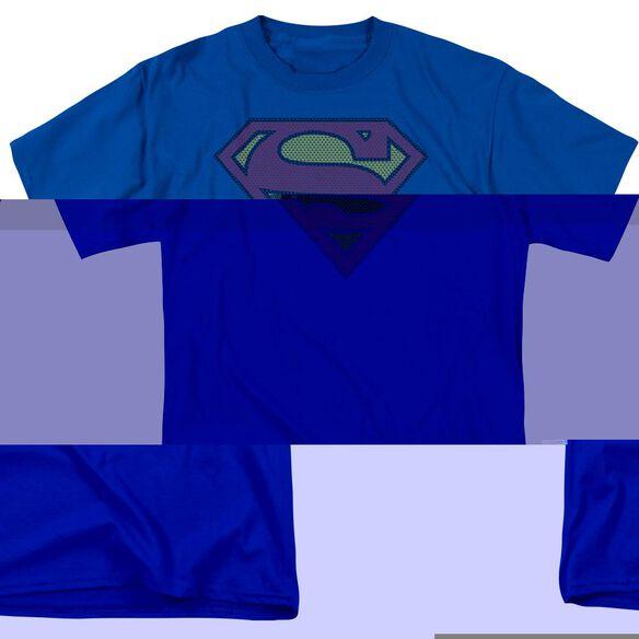 SUPERMAN LITTLE LOGOS - S/S ADULT 18/1 - ROYAL BLUE T-Shirt