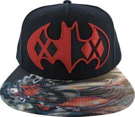 72168a1c8fd Harley Quinn Batman Logo Sublimated Bill Hat
