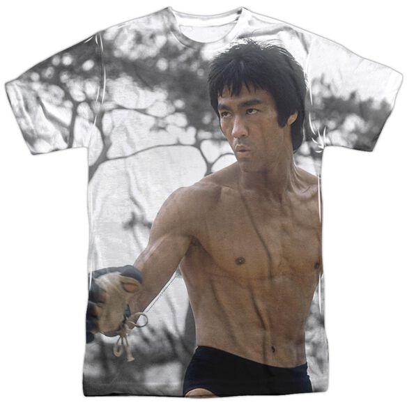 Bruce Lee Battle Ready Short Sleeve Adult Poly Crew T-Shirt