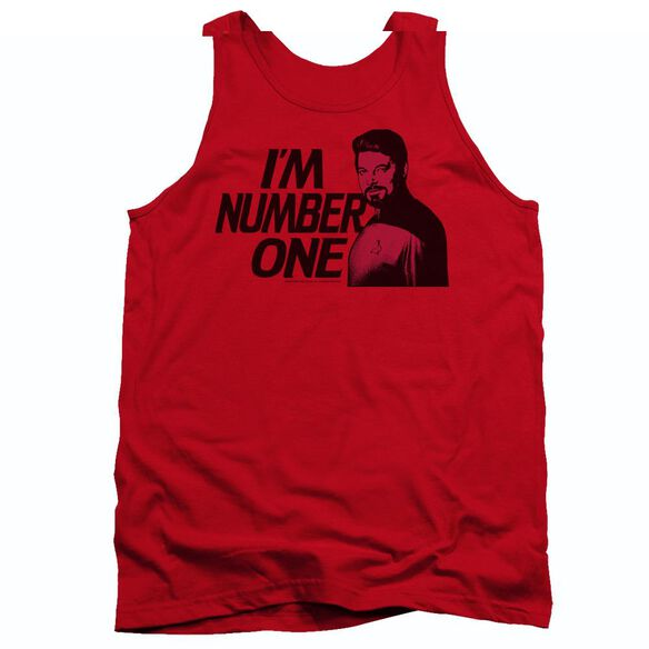 Star Trek Im Number One - Adult Tank - Red