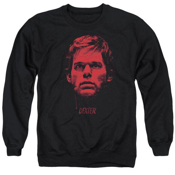 Dexter Bloody Face - Adult Crewneck Sweatshirt - Black