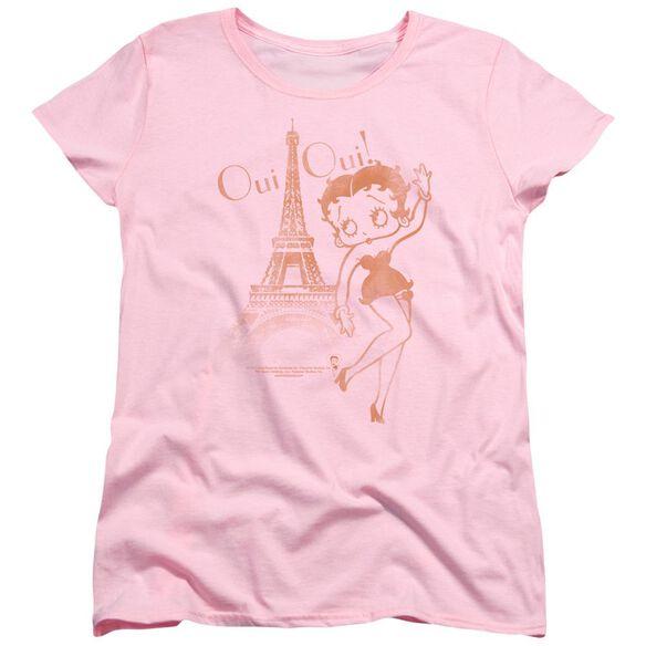 Betty Boop Oui Oui Short Sleeve Womens Tee T-Shirt