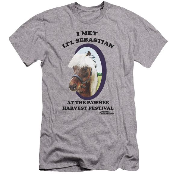 Parks And Rec Lil Sebastian Premuim Canvas Adult Slim Fit Athletic