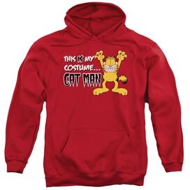 Garfield Cat Man Adult Pull Over Hoodie