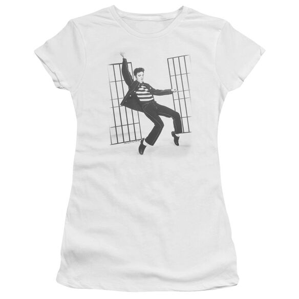 Elvis Jailhouse Rock Short Sleeve Junior Sheer T-Shirt