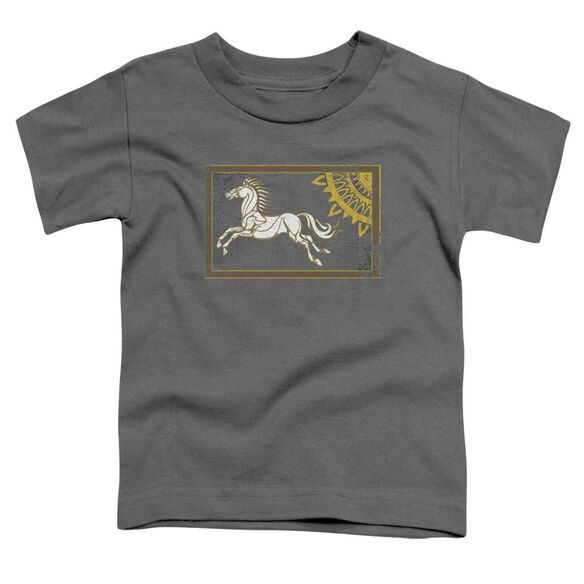 Lor Rohan Banner Short Sleeve Toddler Tee Charcoal T-Shirt