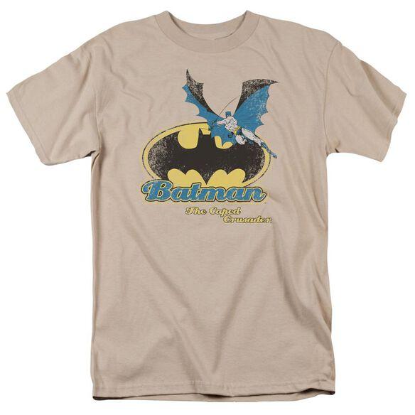 Batman Caped Crusader Retro Short Sleeve Adult T-Shirt