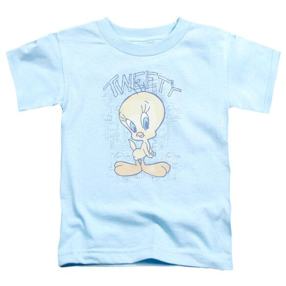 Looney Tunes Tweety Fade Short Sleeve Toddler Tee Light Blue T-Shirt