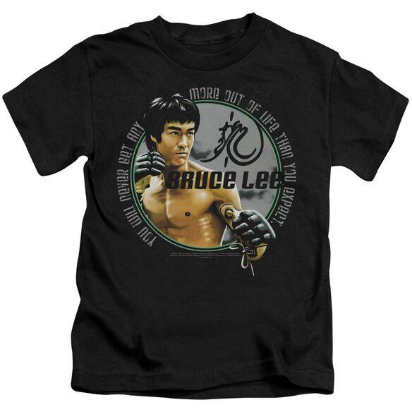 Bruce Lee Expectations Short Sleeve Juvenile Black T-Shirt