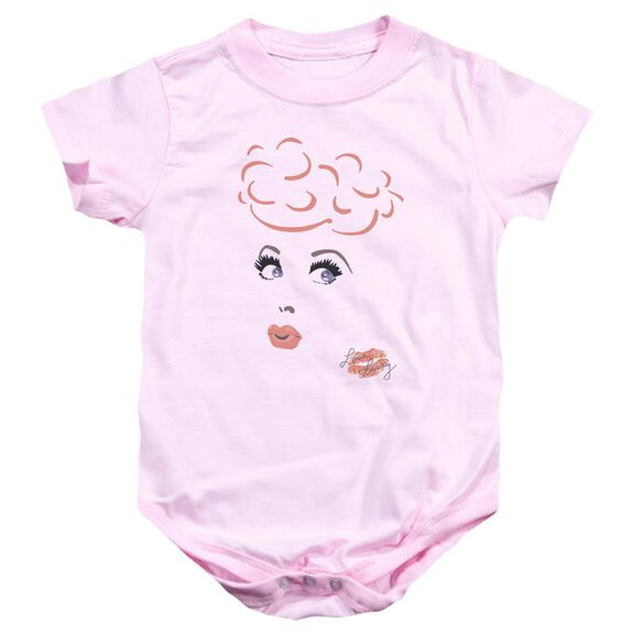 I Love Lucy Eyelashes Infant Snapsuit Pink