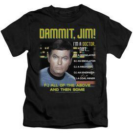Star Trek All Of The Above Short Sleeve Juvenile Black Md T-Shirt