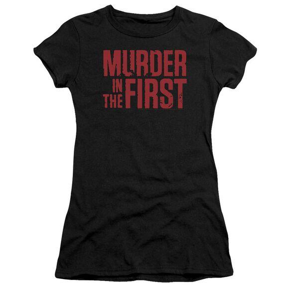 Murder In The Frist Stacked Logo Premium Bella Junior Sheer Jersey