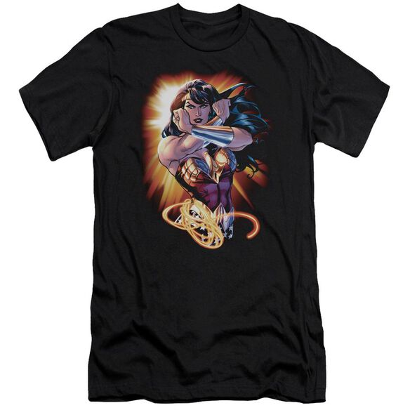 Jla Wonder Rays Short Sleeve Adult T-Shirt