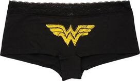 Wonder Woman Logo Ladies Boy Short Plus Size Panty