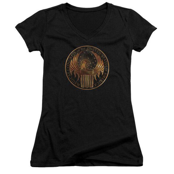 Fantastic Beasts Magical Congress Crest Junior V Neck T-Shirt