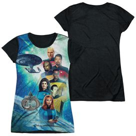 Star Trek 30 Crew Short Sleeve Junior Poly Black Back T-Shirt