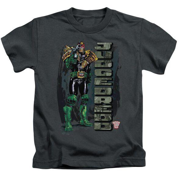 Judge Dredd Blam Short Sleeve Juvenile Charcoal Md T-Shirt