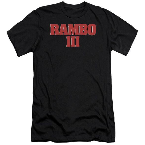 Rambo Iii Logo Premuim Canvas Adult Slim Fit