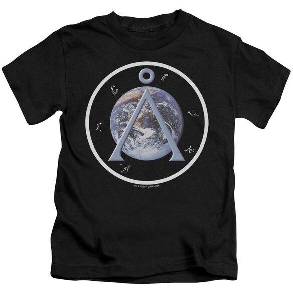 SG1 EARTH EMBLEM - S/S JUVENILE 18/1 - BLACK - T-Shirt