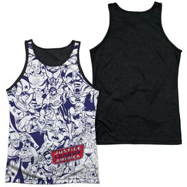 DC JUSTICE ALL AROUND-ADULT POLY TANK TOP