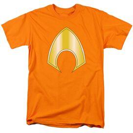 Jla Aquaman Logo Short Sleeve Adult T-Shirt