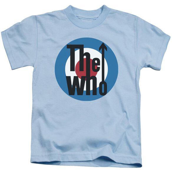 The Who Logo Short Sleeve Juvenile Light Blue T-Shirt