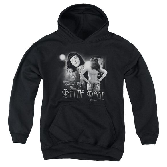 Bettie Page Center Of Attention Youth Pull Over Hoodie