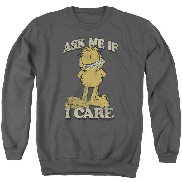 Garfield Ask Me Adult Crewneck Sweatshirt