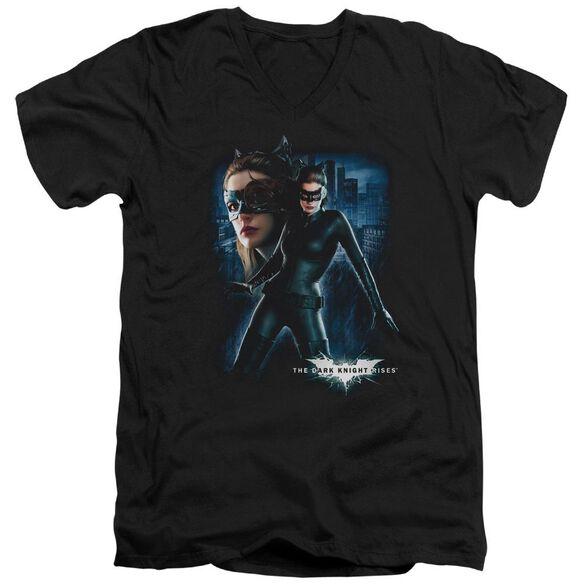 Dark Knight Rises Catwoman Short Sleeve Adult V Neck T-Shirt