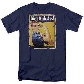 GIRLS KICK ASS - ADULT 18/1 - NAVY T-Shirt