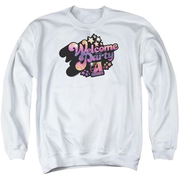 Studio 54 Welcome To The Party Adult Crewneck Sweatshirt
