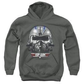 Top Gun Iceman Helmet-youth Pull-over Hoodie - Charcoal