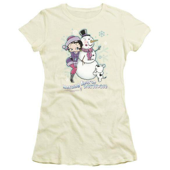 Betty Boop Melting Hearts Short Sleeve Junior Sheer T-Shirt
