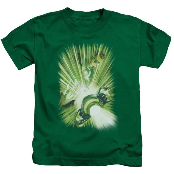 Green Lantern Lantern's Light Short Sleeve Juvenile Kelly Green T-Shirt