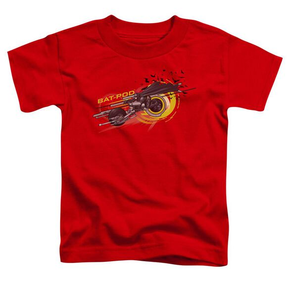 Dark Knight Bat Pod Short Sleeve Toddler Tee Red T-Shirt